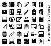 notebook icons set. set of 36... | Shutterstock .eps vector #646443514
