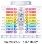 mineral vitamin supplement... | Shutterstock .eps vector #646448809