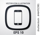 smartphone icon with isolated...