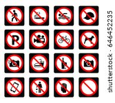 prohibition signs | Shutterstock .eps vector #646452235