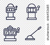 lever icons set. set of 4 lever ... | Shutterstock .eps vector #646452685