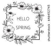 flower frame of butterfly peas... | Shutterstock .eps vector #646452745