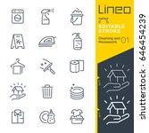 lineo editable stroke  ... | Shutterstock .eps vector #646454239