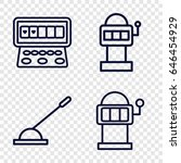 lever icons set. set of 4 lever ... | Shutterstock .eps vector #646454929