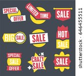 season sale badges and tags... | Shutterstock .eps vector #646455511