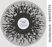 circular paving tile pattern... | Shutterstock .eps vector #646455574