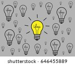 concept light bulb design black ... | Shutterstock .eps vector #646455889