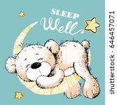 Cute Bear Sleeping On The Moon...