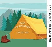 tent for camping on the forest...   Shutterstock .eps vector #646457824