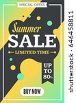 social media summer sale banner.... | Shutterstock .eps vector #646458811