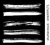 ink vector brush strokes set.... | Shutterstock .eps vector #646459171