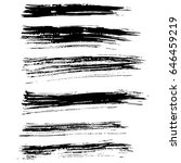 ink vector brush strokes set.... | Shutterstock .eps vector #646459219
