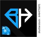 initials letter b   h in... | Shutterstock .eps vector #646470691