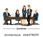 business people teamwork ... | Shutterstock .eps vector #646478059