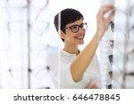 health care  eyesight and... | Shutterstock . vector #646478845