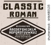classic roman font typeface... | Shutterstock .eps vector #646480135