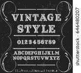 vintage style font script vector | Shutterstock .eps vector #646480207