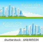 vector flat banners. future... | Shutterstock .eps vector #646485034