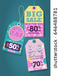 big sale tag label | Shutterstock .eps vector #646488781