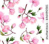 watercolor seamless pattern of... | Shutterstock . vector #646490581