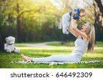 delighted mother with her one... | Shutterstock . vector #646492309