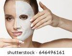 female beauty face skin... | Shutterstock . vector #646496161