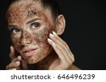 beauty face care. portrait of... | Shutterstock . vector #646496239