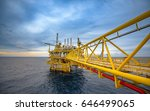 offshore oil and gas rig... | Shutterstock . vector #646499065
