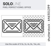 pixel perfect solo line email... | Shutterstock .eps vector #646501399