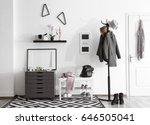 modern hall interior with... | Shutterstock . vector #646505041