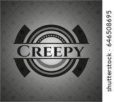 creepy retro style black emblem | Shutterstock .eps vector #646508695