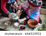cusco  peru   feb 12  quechuan... | Shutterstock . vector #646513921