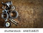 old auto parts | Shutterstock . vector #646516825