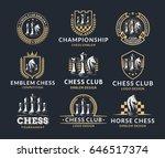 chess logo set   vector... | Shutterstock .eps vector #646517374