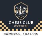 chess club logo   vector... | Shutterstock .eps vector #646517395