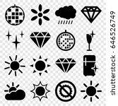 shine icons set. set of 16...   Shutterstock .eps vector #646526749
