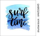 summer handdrawn lettering... | Shutterstock .eps vector #646526845