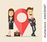 business man and woman stand... | Shutterstock .eps vector #646530487