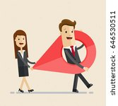 business man and woman carry a... | Shutterstock .eps vector #646530511