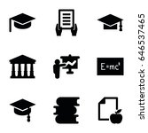 university icons set. set of 9... | Shutterstock .eps vector #646537465