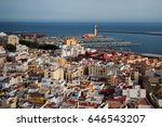 view from above port | Shutterstock . vector #646543207