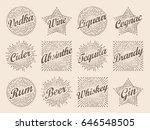 retro design sunburst label ... | Shutterstock .eps vector #646548505