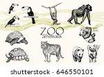 vector hand drawn monochrome... | Shutterstock .eps vector #646550101