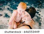 whirlpool  jacuzzi. diving baby ...   Shutterstock . vector #646553449