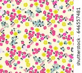seamless cute pattern of small... | Shutterstock . vector #646557481