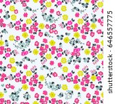 seamless cute pattern of small... | Shutterstock . vector #646557775