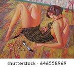 Texture  Oil  Painting  Artist...