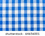 Blue Checked Fabric Tablecloth