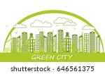 concept green city with a non... | Shutterstock .eps vector #646561375
