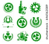 leaf clover labels and elements ... | Shutterstock .eps vector #646562089
